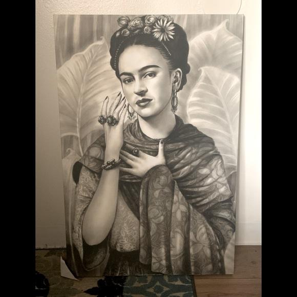Large canvas frieda kahlo print.